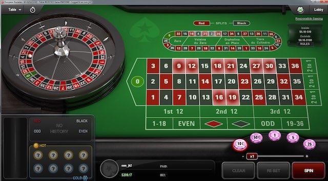 PokerStars Casino Spiel Roulette