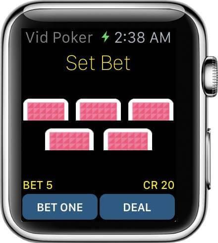 Spielen Sie Vid Poker auf Ihrer Apple Watch um Echtes Geld hohe Geldgewinne winken
