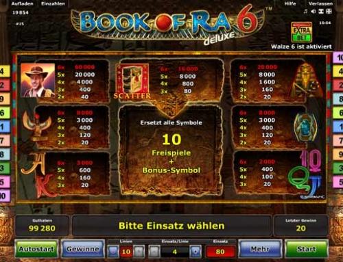 Book of Ra deluxe 6 kostenlos spielen