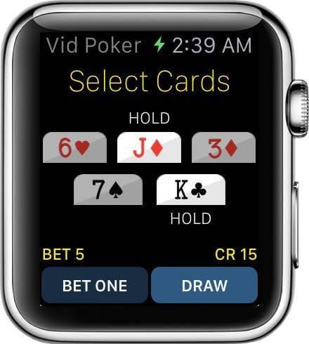Jacks or Better das Popoläre Video Poker Spiel jetzt auf Apple Watch zocken