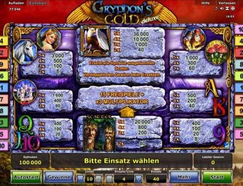 Gryphons Gold deluxe gratis spielen