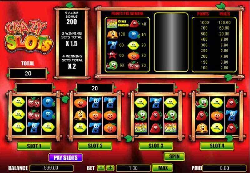 Crazy Slots gratis spielen